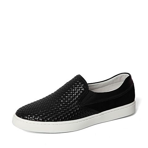 Senda/森达2016春季专柜同款黑色牛皮革男休闲鞋2DZ01AM6 专柜1