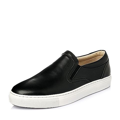 Senda/森达春季黑色牛皮男休闲鞋L3261AM6