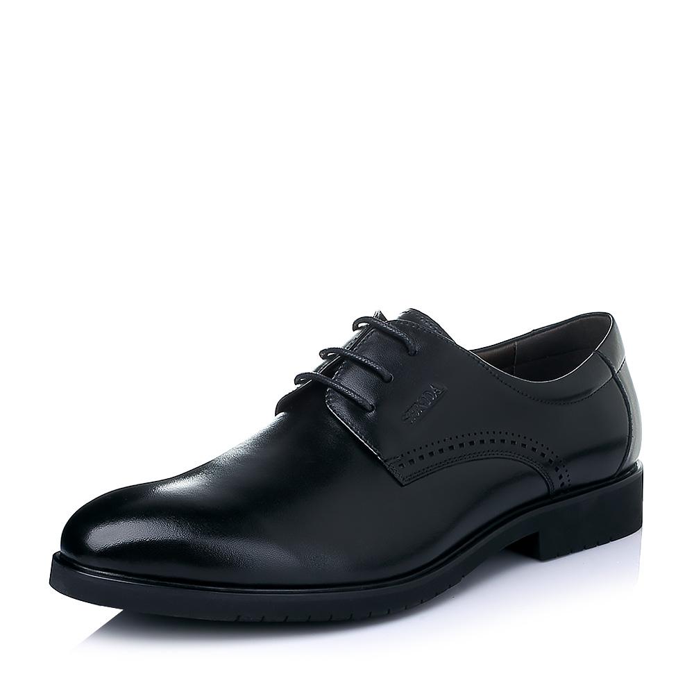 Senda/森达2016春季黑色打蜡牛皮商务正装男皮鞋A9202AM6图片-优购网上鞋城!