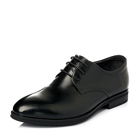 Senda/森达春季黑色牛皮男皮鞋K5251AM6