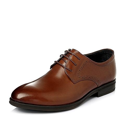Senda/森达2016春季棕色牛皮男皮鞋K5251AM6