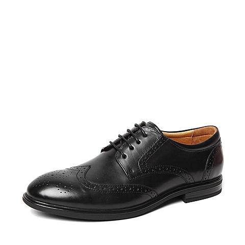 Senda/森达春季专柜同款黑色牛皮革男皮鞋2RI01AM6 专柜1