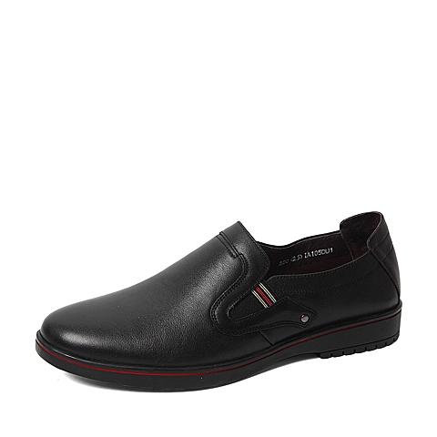 Senda/森达春专柜同款黑色打蜡牛皮男单鞋IA105AM6 专柜1