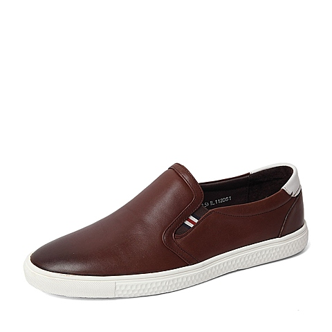 Senda/森达春季专柜同款棕色打蜡牛皮/软面牛皮男鞋IL112AM6 专柜1