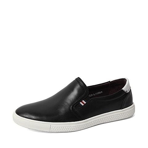 Sende/森达2016春季专柜同款黑色打蜡牛皮/软面牛皮男鞋IL112AM6 专柜1