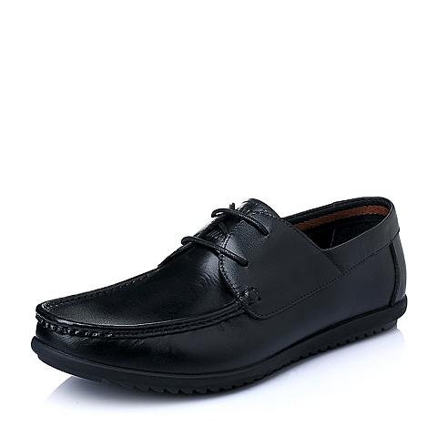 Senda/森达2016夏季黑色牛皮男单鞋F7516BM6