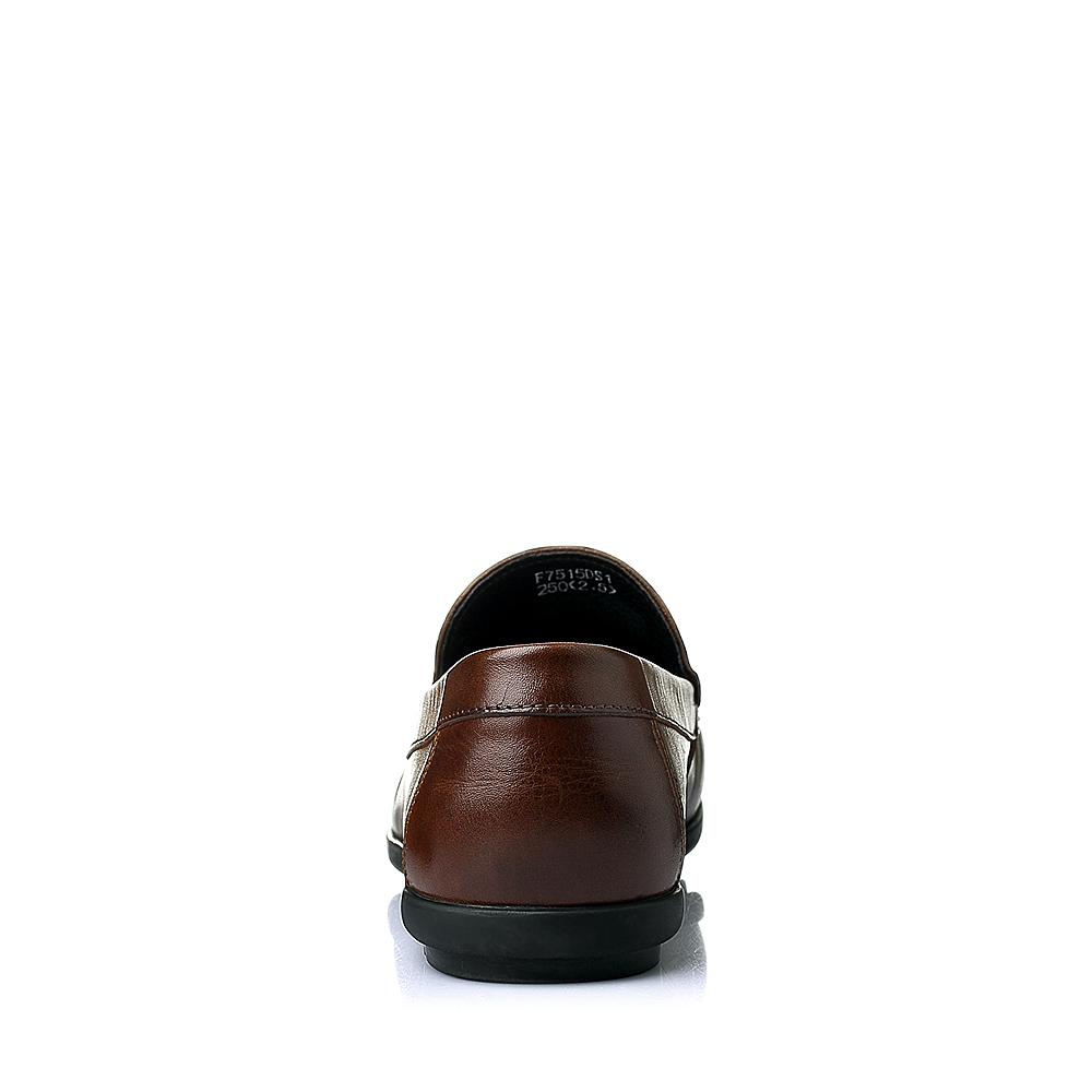 senda/森达夏季棕色牛皮男单鞋f7515bm6
