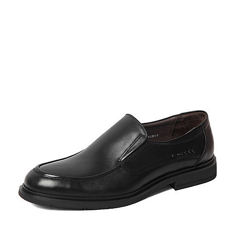 Senda/森达春季专柜同款黑色打蜡牛皮男皮鞋HS101AM6 专柜1