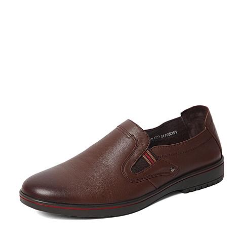 Sende/森达2016春专柜同款棕色打蜡牛皮男单鞋IA105AM6 专柜1