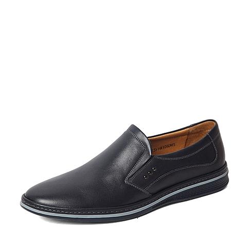 Senda/森达春季专柜同款蓝色软面牛皮男单鞋HW106AM6 专柜1