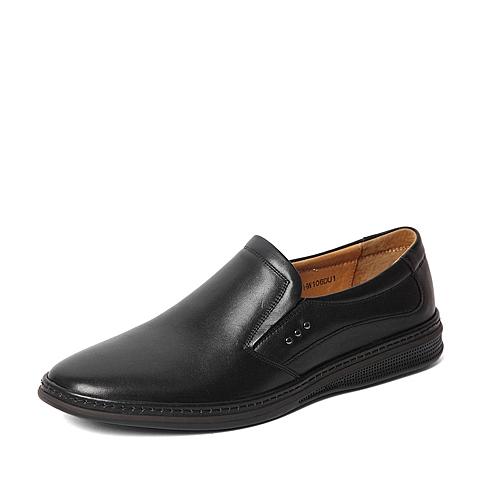 Senda/森达2016春季专柜同款黑色打蜡牛皮男单鞋HW106AM6 专柜1