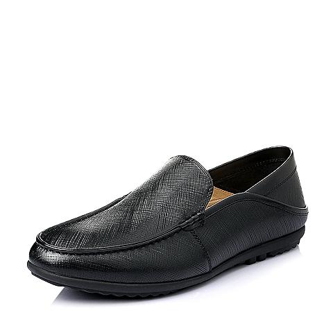 Senda/森达2016夏季黑色牛皮革男皮鞋Y2131BM6