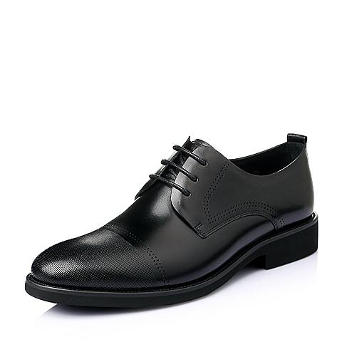 Senda/森达2016夏季黑色牛皮革男皮鞋DH110BM6