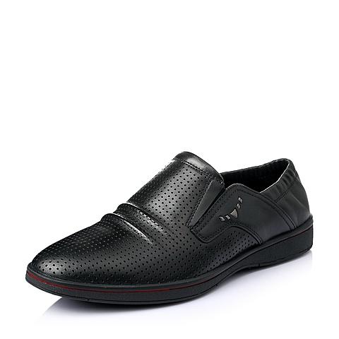 Senda/森达2016夏季黑色牛皮男单鞋ABR08BM6