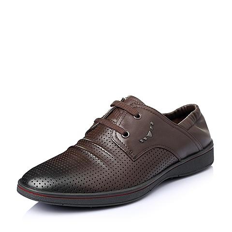 Senda/森达夏季棕色牛皮男单鞋ABR07BM6