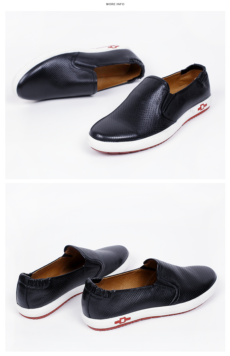 senda/森达2016夏季黑色牛皮时尚休闲男皮鞋h9061bm6
