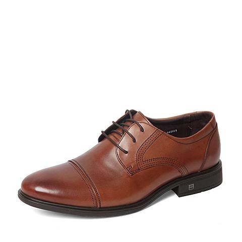 Senda/森达2016春专柜同款棕色打蜡牛皮男单鞋HO104AM6 专柜1