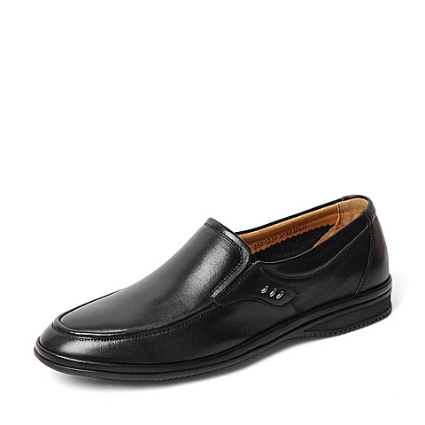 Senda/森达夏季专柜同款黑色软面牛皮男单鞋IP101BM6 专柜1