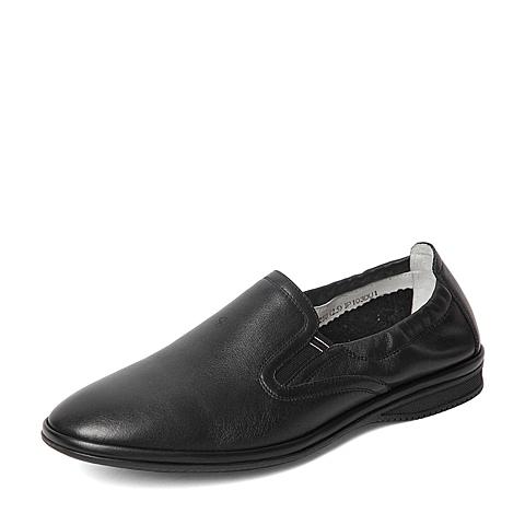 Senda/森达2016夏季专柜同款黑色打蜡牛皮男单鞋IP103BM6 专柜1