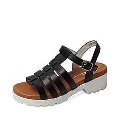 Senda/森达夏季专柜同款黑色小牛皮女凉鞋F3Y01BL6 专柜1
