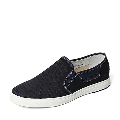 Senda/森达夏季专柜同款蓝色牛皮男单鞋JF114BM6 专柜1