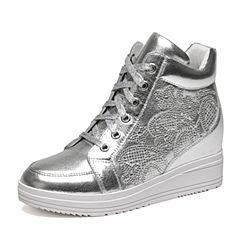 Senda/森达冬季专柜同款时尚潮流女皮短靴绑带松糕时装靴3WC20DD6