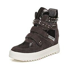 Senda/森达冬季专柜同款时尚休闲舒适内增高女短靴3WJ20DD6