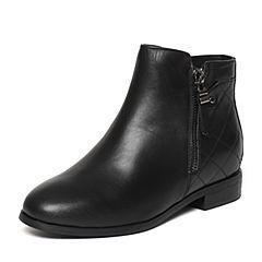 Senda/森达冬季专柜同款时尚潮流舒适休闲内增高女短靴N3J41DD6