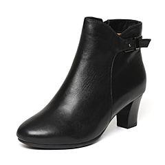 【11.11】Senda/森达冬季专柜同款优雅气质女短靴粗跟N3L40DD6