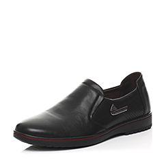 Senda/森达春季专柜同款黑色打蜡牛皮男鞋IA106AM6