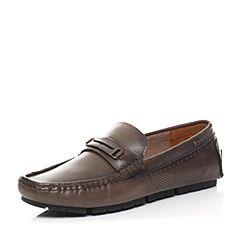 Senda/森达夏季专柜同款卡其色牛皮男鞋2TE01BM6