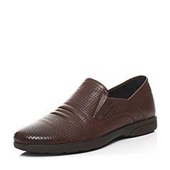 Senda/森达夏季专柜同款棕色打蜡牛皮男鞋IU111BS6