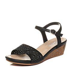 Senda/森达夏季专柜同款甜美休闲女坡跟凉鞋G3H12BL7