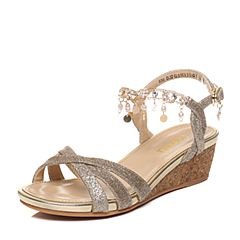 Senda/森达夏季专柜同款时尚甜美休闲坡跟女凉鞋G3H13BL7
