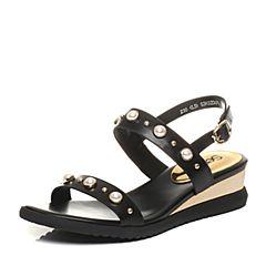 Senda/森达夏季专柜同款时尚休闲女坡跟凉鞋G3K02BL7