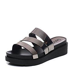 Senda/森达夏季专柜同款时尚休闲舒适拖鞋3SI37BT7