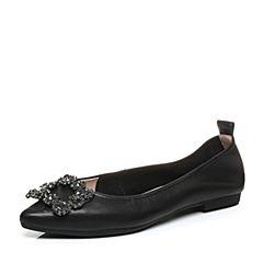 Senda/森达秋季新款专柜同款甜美低跟女单鞋尖头VBC01CQ7