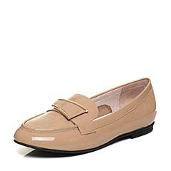Senda/森达秋季专柜同款气质漆皮女单鞋低跟VBJ21CQ7