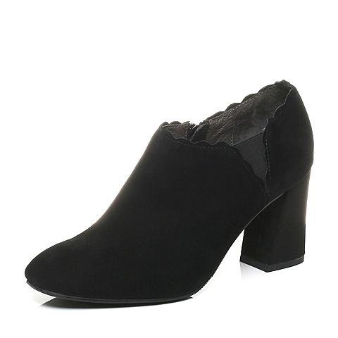 Senda/森达秋季专柜同款时尚优雅气质绒面女高跟鞋VAL20CM7