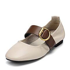 Senda/森达秋季新款专柜同款优雅女单鞋皮带扣玛丽珍VBI04CQ7