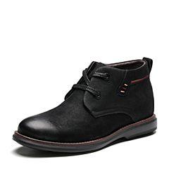 Senda/森达2017冬季新款专柜同款时尚简约舒适男低靴V2W41DD7