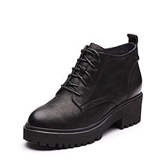 Senda/森达2017冬季新款专柜同款潮流休闲女短靴马丁靴3DY11DD7
