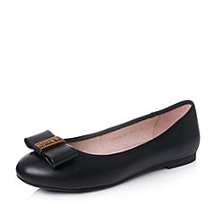 Senda/森达秋季时尚甜美舒适休闲女单鞋平跟蝴蝶结奶奶鞋8A8-3CQ7