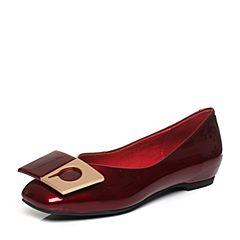Senda/森达秋季专柜同款时尚低跟女单鞋方头3QF01CQ7(领红包更优惠)
