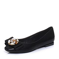 Senda/森达秋季专柜同款甜美低跟女单鞋蝴蝶结3WZ22CQ7