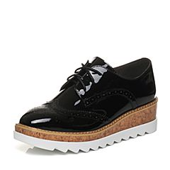 Senda/森达2018春季新款专柜同款英伦漆皮女学院单鞋VOQ20AM8