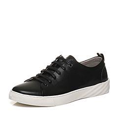 Senda/森达2018春季新款专柜同款韩版真皮学生男休闲鞋1QH10AM8