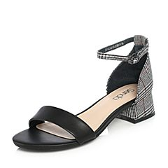 Senda/森达2018夏季新款专柜同款淑女休闲女凉鞋4CA01BL8