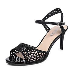 Senda/森达2018夏季新款专柜同款优雅气质真皮女高跟凉鞋4CS01BL8