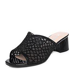Senda/森达2018夏季新款专柜同款性感优雅女粗跟凉鞋4CV01BT8